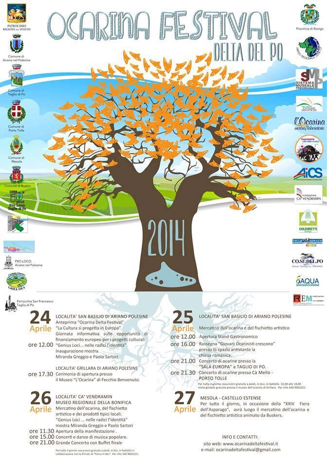 Ocarina Delta Festival 2014 flyer